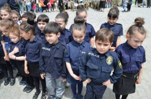 Young police officers in Tbilisi